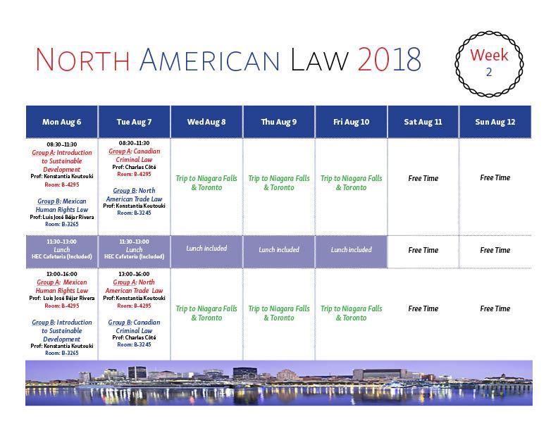 Program North American Law 2018 Week 2 Rev2