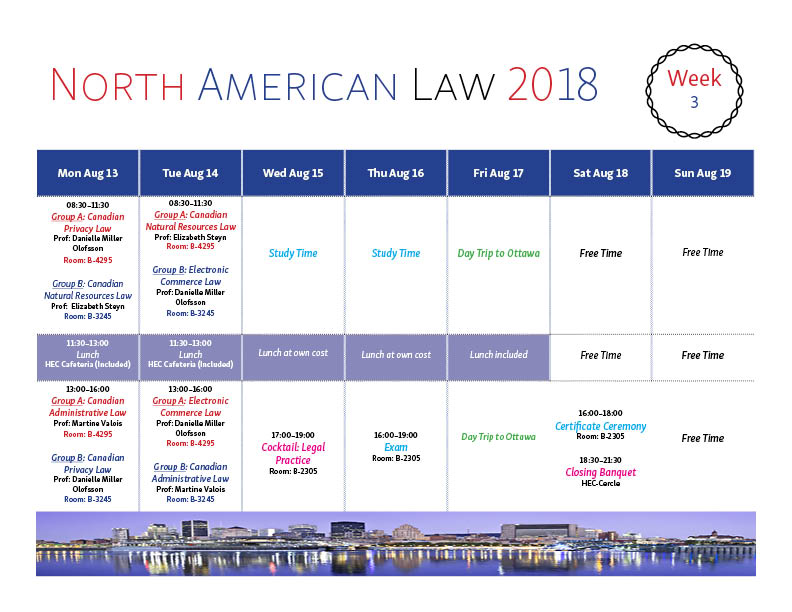 Program North American Law 2018 Week 3 Rev3